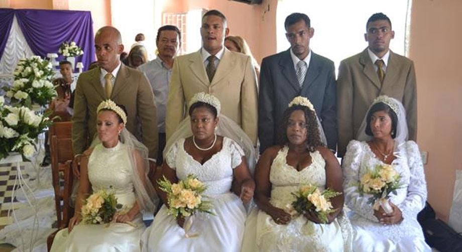 Casamento coletivo no complexo de Bangu - RJ (2013)