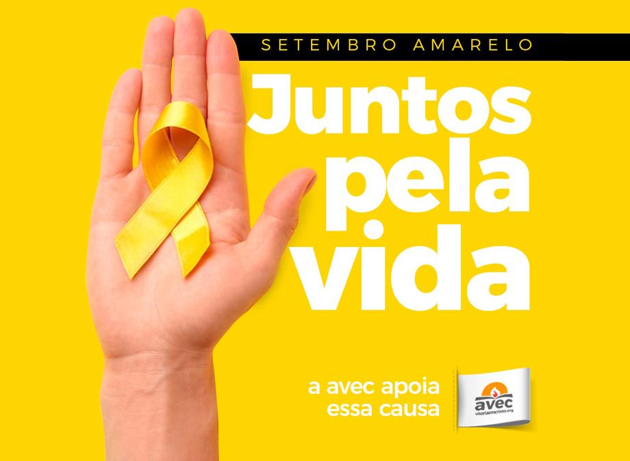 Avec participa da campanha Setembro Amarelo