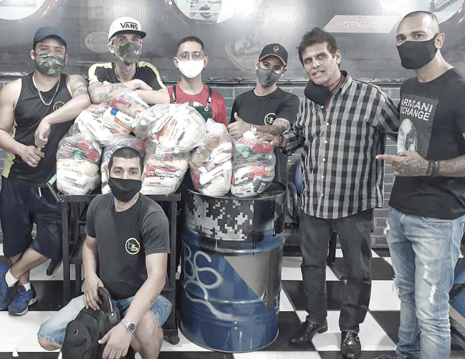 Amev recebeu doações de cestas básicas