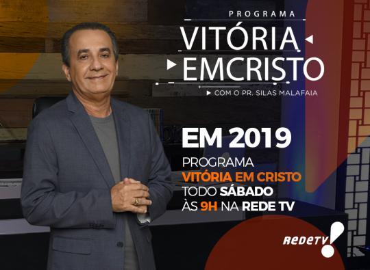 Programa Vitória em Cristo na RedeTV em 2019