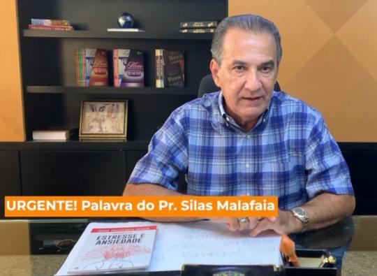 Pr. Silas Malafaia grava um recado para os Parceiros Ministeriais