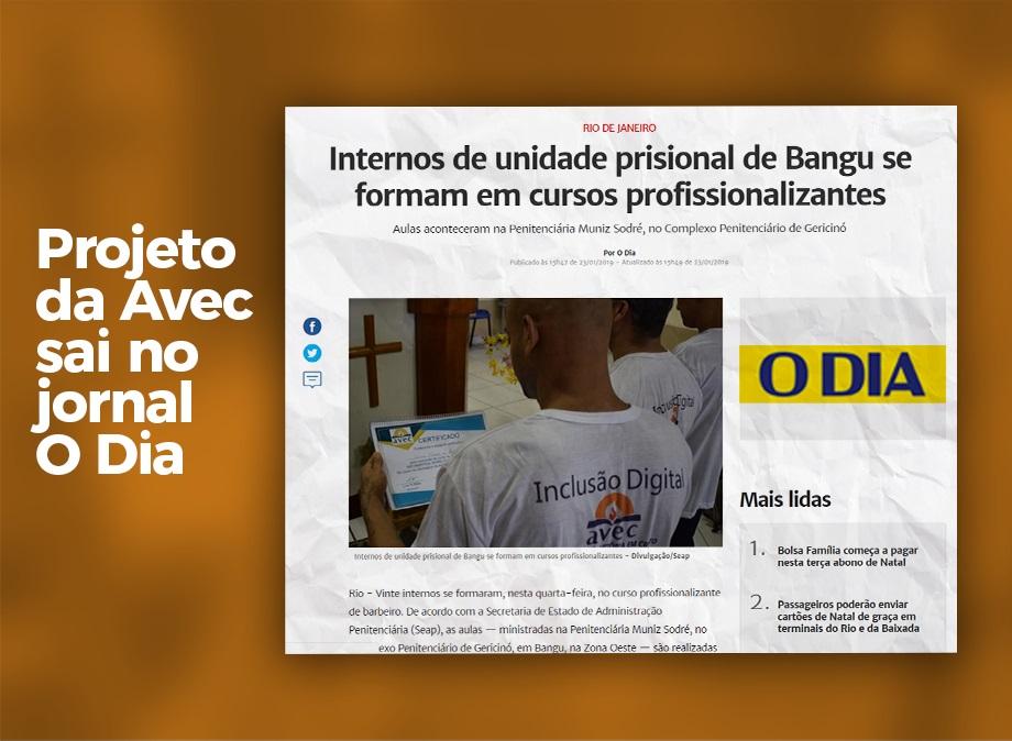 Avec é notícia no jornal O Dia
