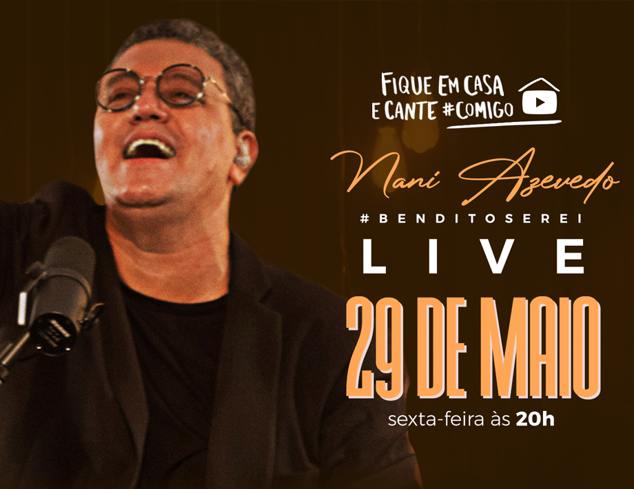 Nani Azevedo fará Live sexta, 20h, com arrecadação para Avec