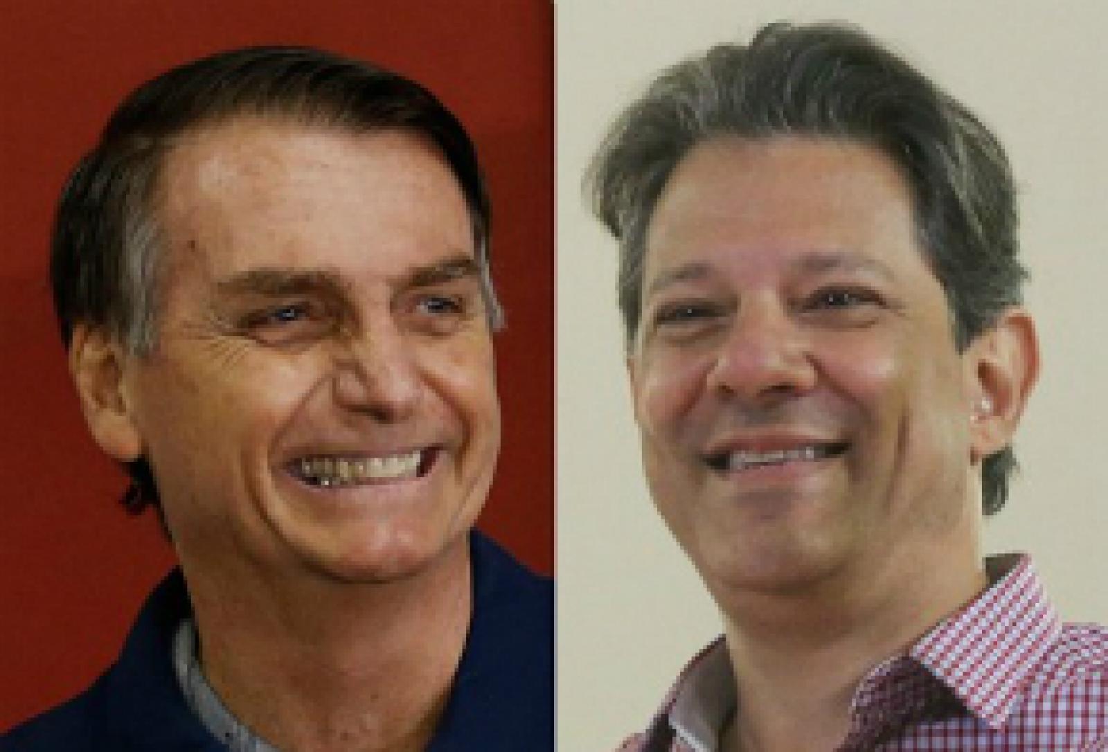 Bolsonaro e Haddad se enfrentam no 2º turno das eleições